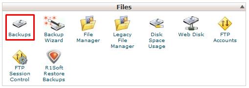backup database 1
