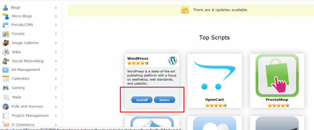 install wordpress 2